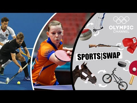 Table Tennis vs Hockey | Can They Switch Sports? | Sports Swap Challenge
