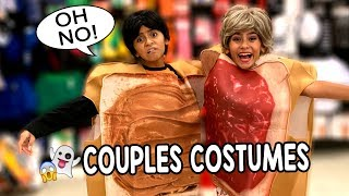 Embarrassing Couples Costumes - Halloween Shopping Skits : Miss Mom Vlogs // GEM Sisters