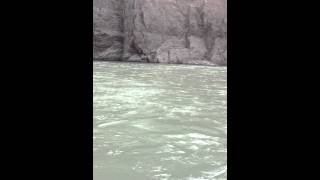 preview picture of video 'Confluence of Indus and Zanskar River'