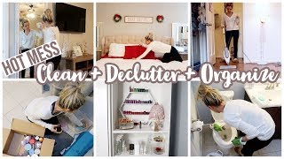 *HOT MESS CLEAN WITH ME* EXTREME CLEAN, DECLUTTER, AND ORGANIZE // HOME TRANSFORMATION