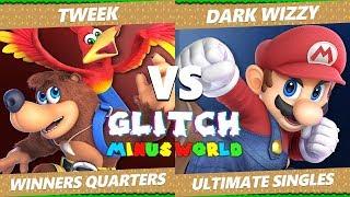 Glitch 7 SSBU - TSM Tweek (PT, Banjo) VS MVG Dark Wizzy (Mario) Smash Ultimate Winners Quarters
