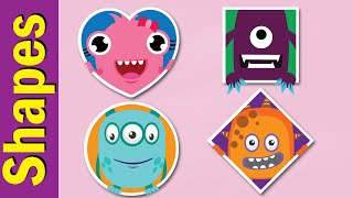 Circle, Diamond, Square, Heart Song | Shapes in for Kids in English | Fun Kids English