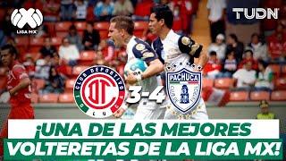 ¡INCREIBLE VOLTERETA! Pachuca le roba el triunfo a los Diablos | Toluca 3-4 Pachuca - AP2012 | TUDN
