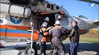 Спецрейс борта МЧС оперативно доставил пожилого мужчину в областную больницу из Холма