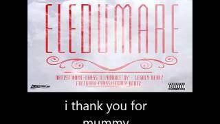 Ebass- eledumare lyrics on screen