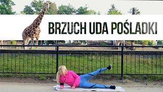 Trening BRZUCH + UDA + POŚLADKI ... z żyrafami! | Codziennie Fit