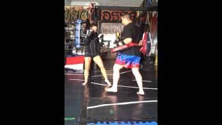 Mercedes Ashley & Alan Florez Muay Thai/Kickboxing/MMA Full Pads Part 1