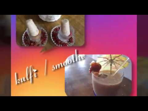 Date banana smoothie and kulfi..ek mein do ka maja...Healthy