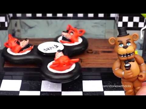 SWTAD Vids | FNAF Custom Fidget Spinners ! Toys and Dolls Fun with Five Nights at Freddy's