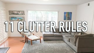 How to Stay Clutter Free - 11 Clutter Free Rules - Minimalist Family Home