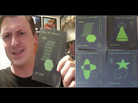 Mensen ontvingen ansichtkaarten met vreemde symbolen, een Roswell-telefoonnummer en de titel