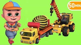 Construction Vehicles, Excavator, Wheel Loader, Mixer Truck, Garbage Trucks, Tow Truck~!  TOYS