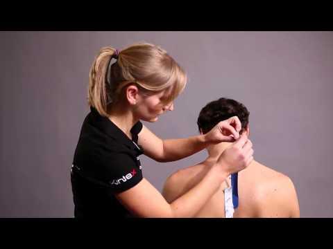 Kinesio Tape, Kinesiologie Tape bei Schmerzen im Nackenbereich (HD).mp4