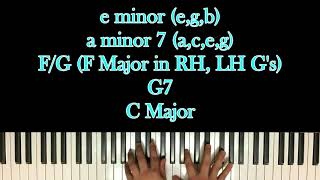 How to Play The Christmas Song (Chestnuts Roasting) on Piano with Chords!