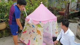 Trò Chơi Bé Pin Con Thương Bố ❤ ChiChi ToysReview TV ❤ Đồ Chơi Trẻ Em Baby Doli Fun Song Bài Hát Vần