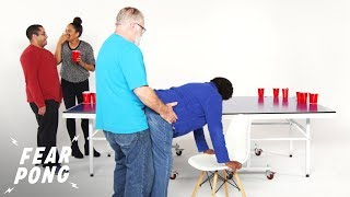 Family Gets Weird in a Game of Fear Pong | Fear Pong | Cut