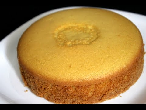 sponge cake without oven – basic plain vanilla sponge cake – sponge cake recipe in pressure cooker