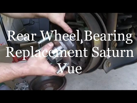 Rear Wheel Bearing Replacement on a 2003 Saturn Vue