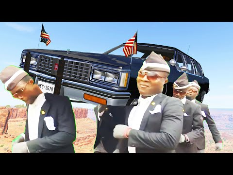 COFFIN FUNERAL DANCE MEME #18 - ASTRONOMIA Music Cover - BeamNG Drive