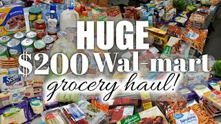 Huge walmart grocery haul / I tried shopping for two weeks!