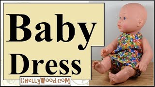 Free Doll Clothes Patterns: Baby Doll Floral Sun Dress