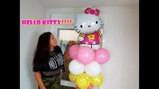 Columna De Globos Hello Kitty