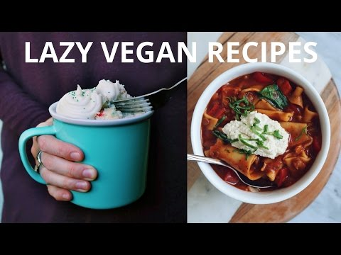 VEGAN RECIPES FOR LAZY DAYS