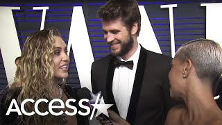 Miley Cyrus Grinds On Liam Hemsworth In This Oscars Interview & He Has The Best Reaction | Access