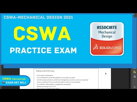 Solidworks Tutorial | CSWA Practice Exam | SET 1. | BW ... - YouTube