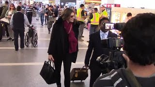 Elizabeth Hurley Is A Style Pro Walking Through LAX