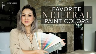 BEST NEUTRAL PAINT COLORS For Your Home | Julie Khuu