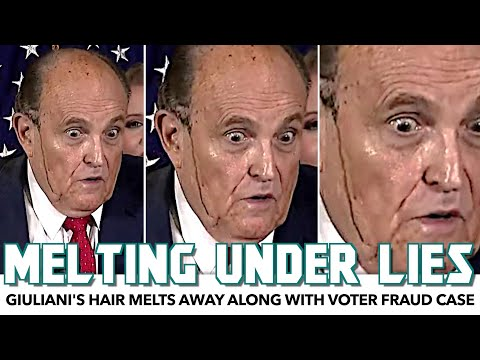 Rudy Giuliani's Hair Dye Melts Away During Insane Press Conference