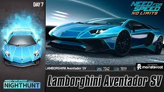 Need For Speed No Limits: Lamborghini Aventador SV | Nighthunt (Day 7 - Burn)