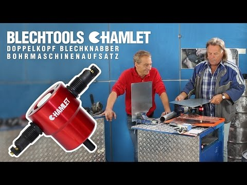 Blechtools Hamlet Blechnibbler 2015 - der Bohrmaschinenaufsatz