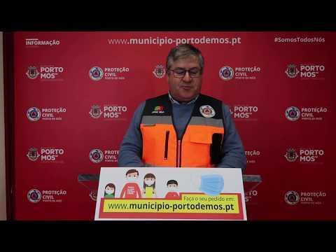 Comunicado Presidente da Câmara Municipal de Porto de Mós - COVID-19 - 19-04-2020
