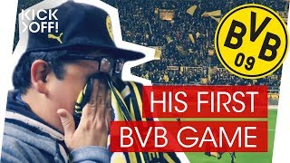 Mexican mega fan visits Dortmund game for the first time