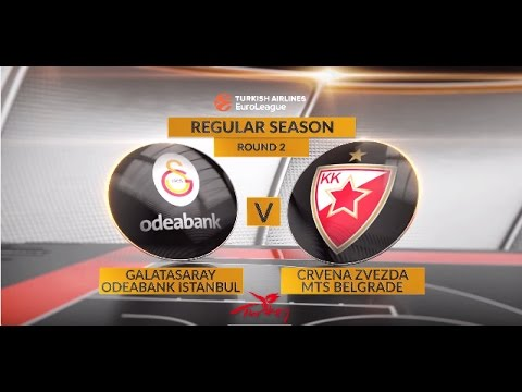 EuroLeague Highlights RS Round 2: Galatasaray Odeabank Istanbul 83-85 Crvena Zvezda mts Belgrade