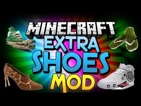 Minecraft Mod   EXTRA SHOES MOD! (Gliding, Rockets, Springs, and More!) - Minecraft Mod Showcase