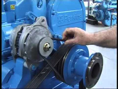 IGSPL - Replacing the fan belts on a Perkins 2000 series engine - P550