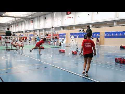 Cto. España Infantil y cadete de Badminton 2011 - Pamplona . Murcia vs Valencia