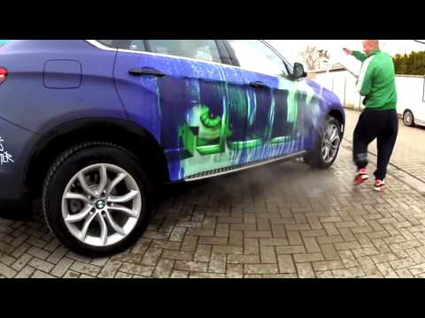 This Bmw X6 Shows Superheroes When You Pour Hot Water Over