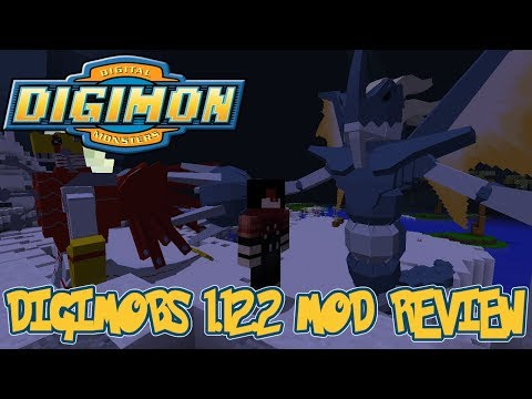 NEW DIGIMON, PLAYER PVP, EGG BREEDING & MORE! || Minecraft Digimobs 1.12.2 Mod Review