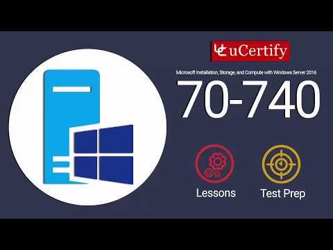 Microsoft MCSA 70-740 Cert Guide - YouTube