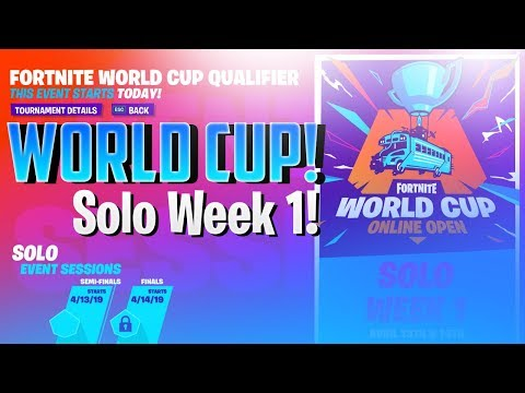 Fortnite World Cup Week 2 Qualifiers World Cup Solo Week 1 Fortnite Battle Royale Netlab