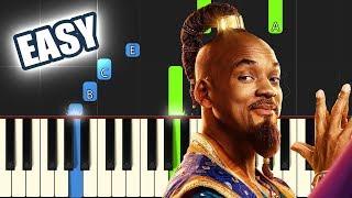 Arabian Nights - Aladdin 2019 (Will Smith) | EASY PIANO TUTORIAL + SHEET MUSIC By Betacustic