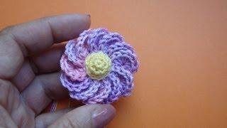 Вязаный крючком цветок Урок 43 Сrochet flower pattern for free