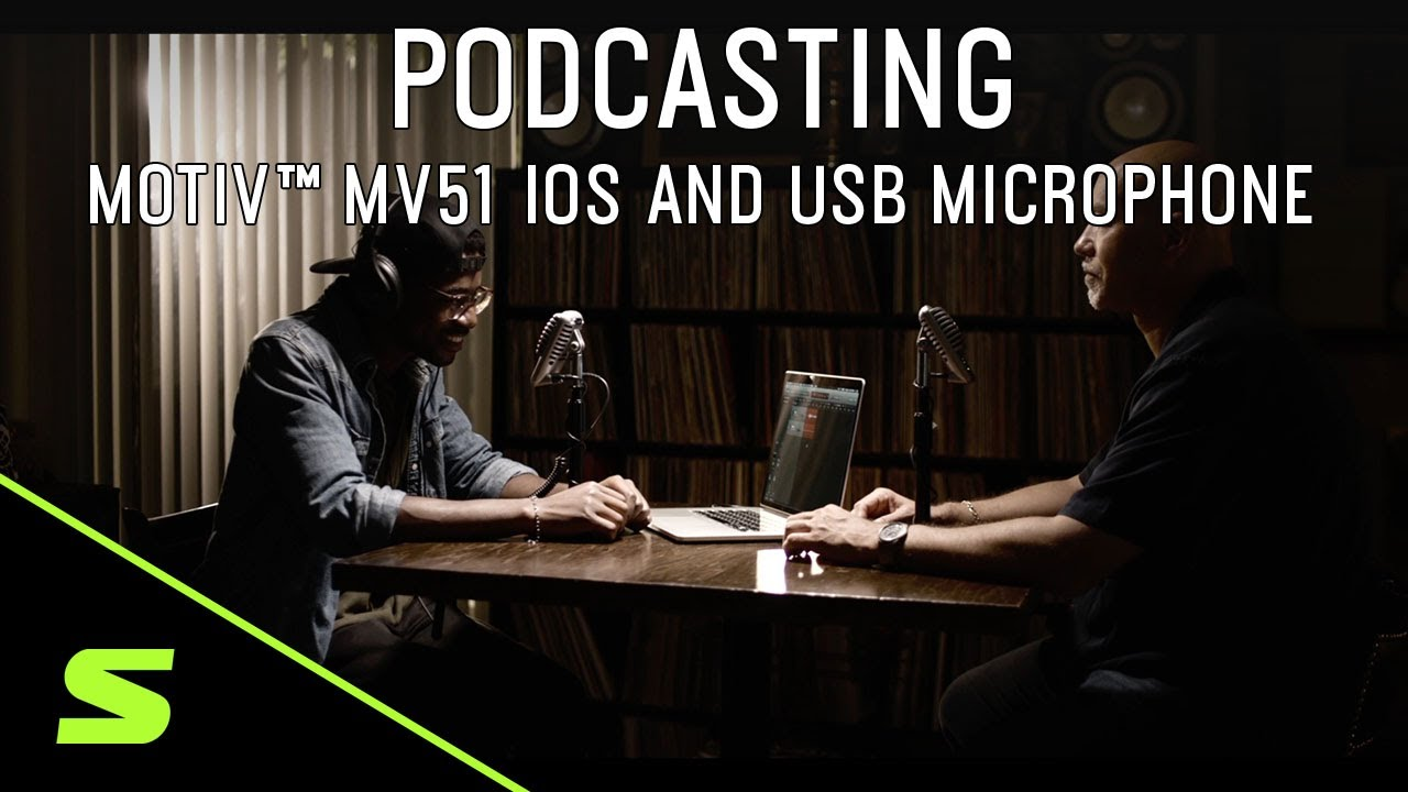 Podcasting with Shure MOTIV MV51 iOS and USB Microphone