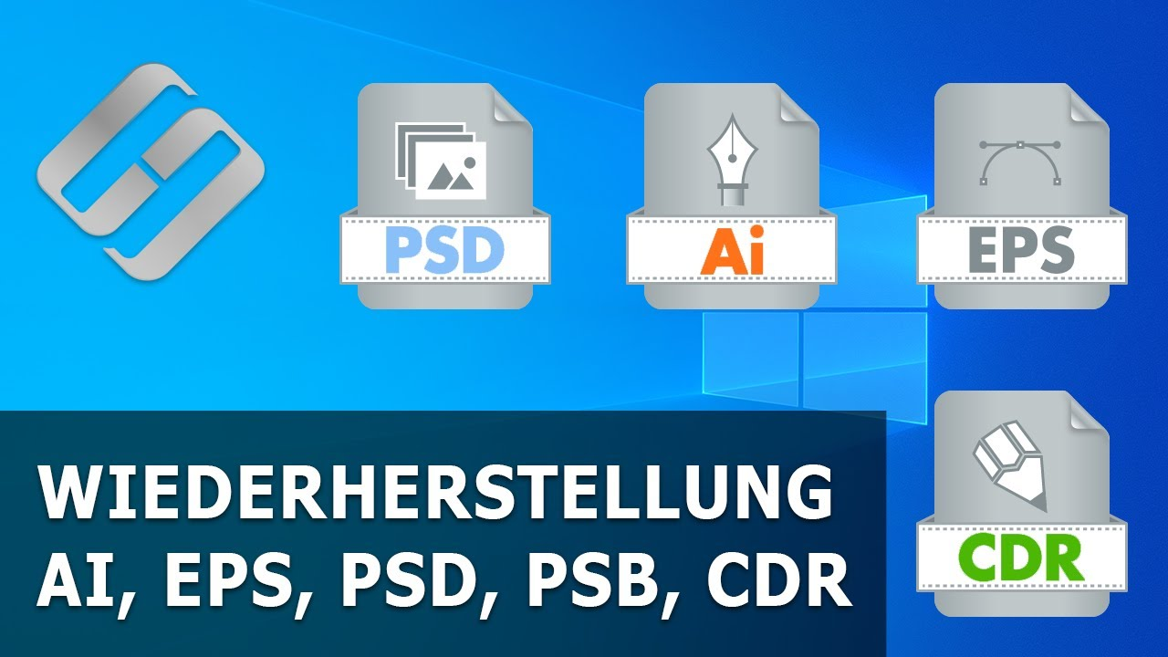 Wiederherstellung von AI, SVG, EPS, PSD, PSB, CDR (Illustrator, Photoshop, CorelDraw)