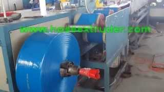 preview picture of video 'PVC  lay flat irrigation hose extrusion line weifang jingda plastic machinery'