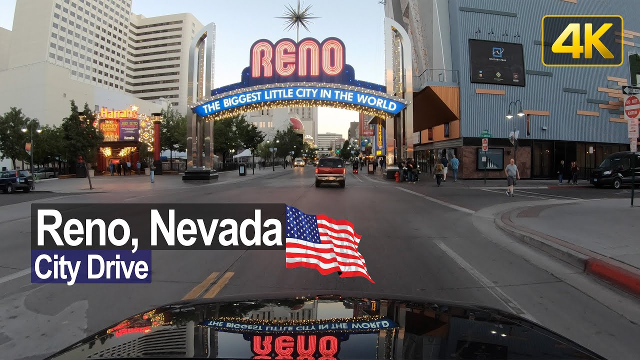 Reno Downtown Sunset Drive in 4K